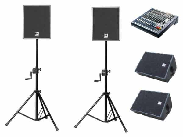 Vocal PA 3 – 400W per side with floor monitors